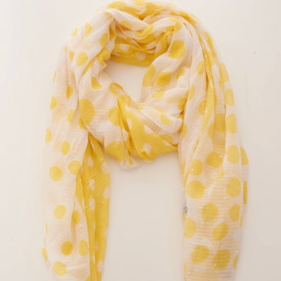 Yellow Spot Scarf