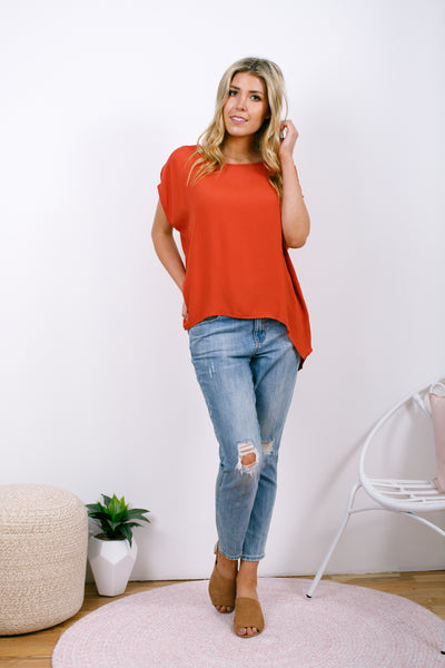 Jane Scoop Top - Rust