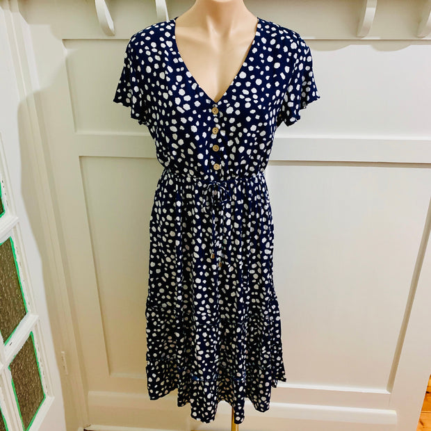 Pebbles Midi Dress - Navy