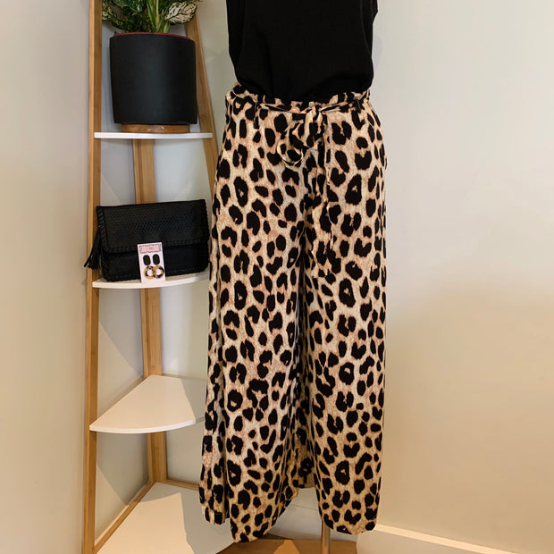 Leopard Wide Leg Pant   **40% Discount applied at checkout**