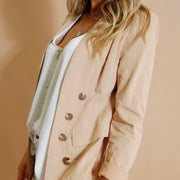 Longline Blazer - Black or Beige **40% Discount applied at checkout**