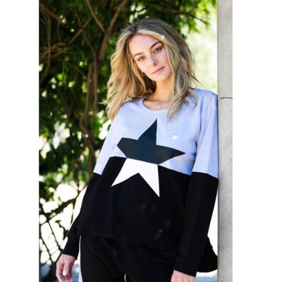 Contrast Star Sweater - 3rd Story