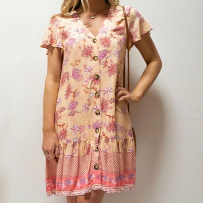Audrey Dress - Peach