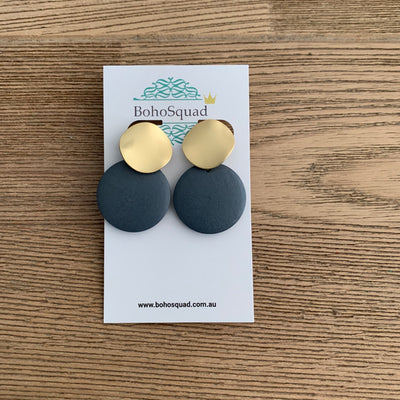 Ashlee Earrings - Grey