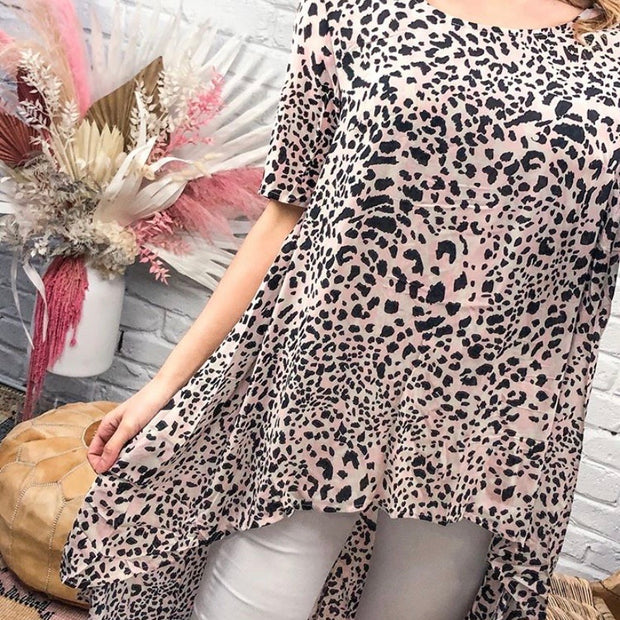 Leopard Drop Back - Blush Leopard