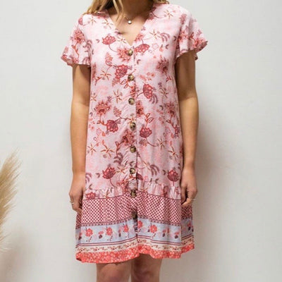 Audrey Dress - Pink