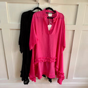 Bagira Dobby Top - Black or Fuchsia **40% Discount applied at checkout**