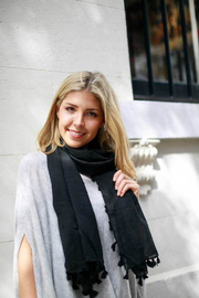 Alden Tassel Scarf - Assorted Colours