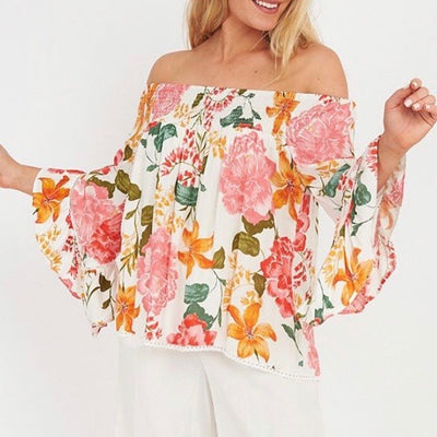 Wild Bloom Off The Shoulder Top