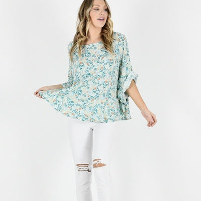 Aria Batwing Top - Mint