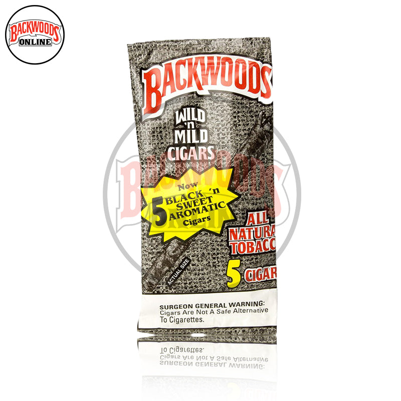 Black N' Sweet Aromatic Backwoods, box of 40, 8 packs of 5 cigars, free shipping to USA, UK, Canada, online for sale with best, wholesale, discount price and reviews.