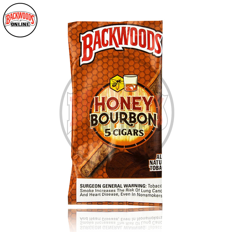 Honey Bourbon Backwoods Cigars discontinued, rare, box of 40, 8 packs of 5 cigars, free shipping to USA, UK, Canada, online for sale with best, wholesale, discount price and reviews.