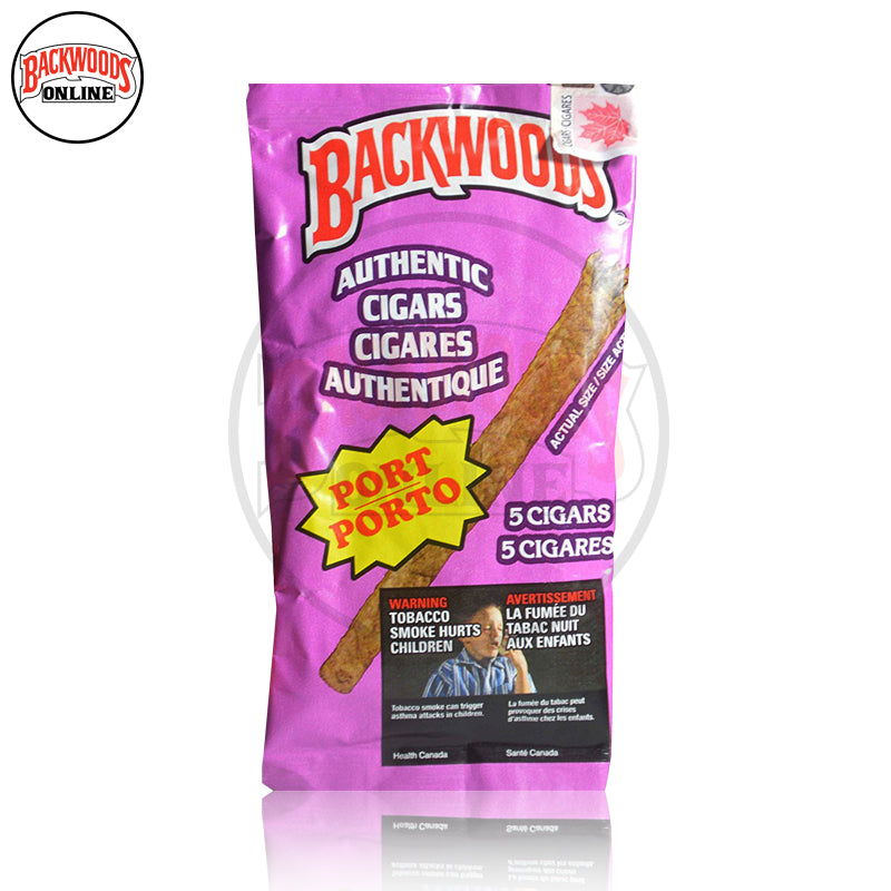 Port Backwoods Cigars vintage, rare, box of 40, 8 packs of 5 cigars, free shipping to USA, UK, Canada, online for sale with best, wholesale, discount price and reviews.