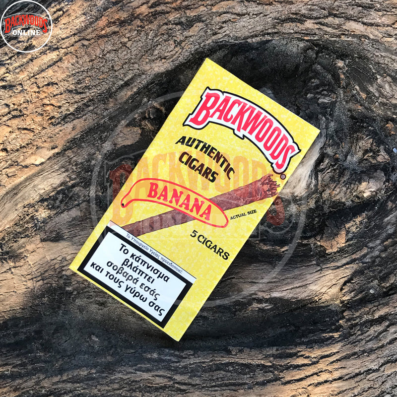 Banana Backwoods Cigars, discontinued, rare, box of 40, 8 packs of 5 cigars, free shipping to USA, UK, Canada, Australia, Greece online for sale with best, wholesale, discount price and reviews.