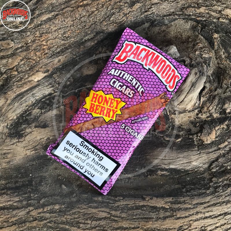 Honey Berry Backwoods Cigars box of 40, 8 packs of 5 cigars, free shipping to USA, UK, Canada