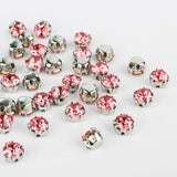 Rose Sewing 3D Claw Rhinestones Silver Base