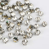 Crystal Sewing 3D Claw Rhinestones Silver Base