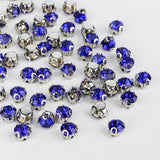 Sapphire Sewing 3D Claw Rhinestones Silver Base