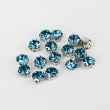 Indicolite Sewing 3D Claw Rhinestones Silver Base