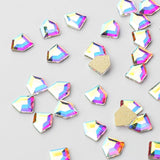 Pentagon Shape Crystal AB Flat Back Fancy Rhinestones