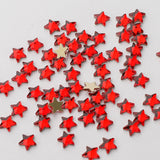 Star Shape Red Glass Flat Back Fancy Rhinestones