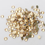 Champagne Effect Glass Flat Back No-HotFix Rhinestones 16 Cut Facets