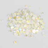 Mixed Sizes Mocha White FlatBack Luminous Rhinestones For Nail Art