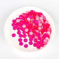 Pink Neon Glass Flat Back No-HotFix Rhinestones 16 Cut Facets
