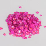 Mixed Sizes Mocha Purple FlatBack Luminous Rhinestones For Nail Art