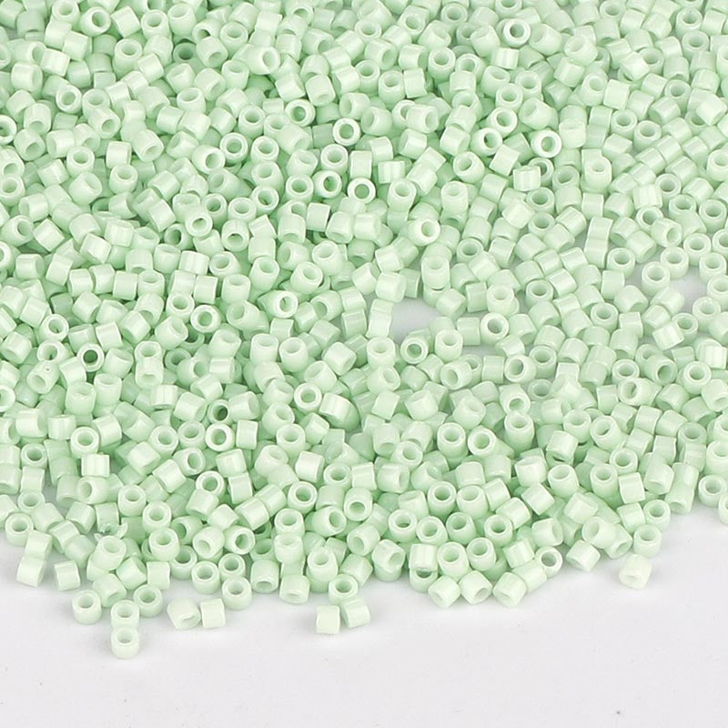 Miyuki Delica Seed Beads 11/0 Opaque Light Mint Green DB-1496
