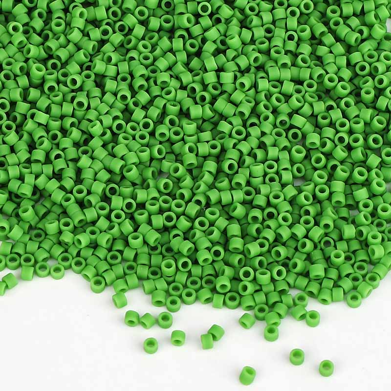 Miyuki Delica Seed Beads 11/0 Opaque Matte Green DB-754