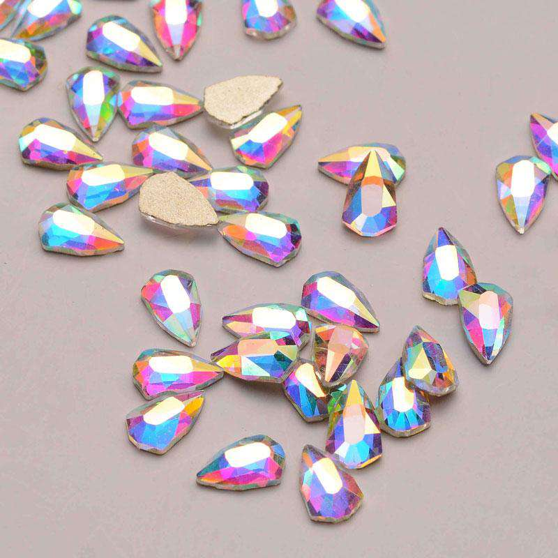 Shield Shape Crystal AB Flat Back Fancy Rhinestones - WholesaleRhinestone