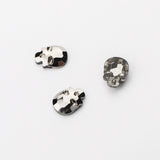 Skull Shape Hematite Flat Back Fancy Rhinestones