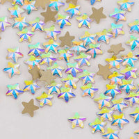 Star Shape Crystal AB Flat Back Fancy Rhinestones - WholesaleRhinestone