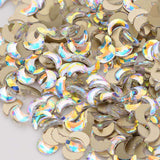 Moon Shape Crystal AB Flat Back Fancy Rhinestones - WholesaleRhinestone