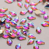 Maple leaves Shape Crystal AB Flat Back Fancy Rhinestones - WholesaleRhinestone