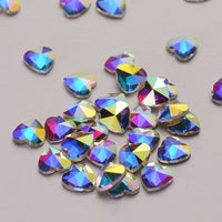 Heart Shape Crystal AB Flat Back Fancy Rhinestones - WholesaleRhinestone