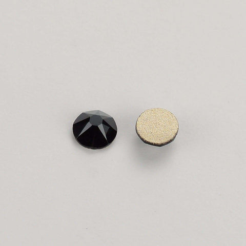 Jet Black FlatBack No-HotFix Rhinestones Top Quality - WholesaleRhinestone