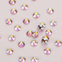 Light Pink AB Shimmer Flat Back No-HotFix Rhinestones - WholesaleRhinestone