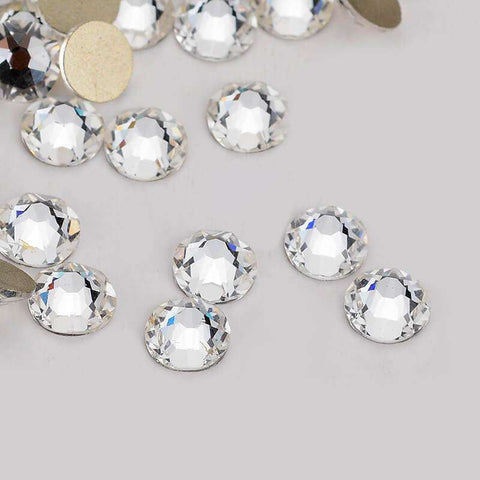 Clear Crystal Flatback No-Hotfix Rhinestones Top Quality - WholesaleRhinestone
