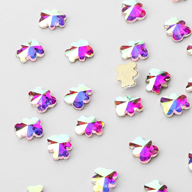 Bear Shape Crystal AB Flat Back Fancy Rhinestones