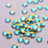Plum blossom Shape Crystal AB Flat Back Fancy Rhinestones - WholesaleRhinestone