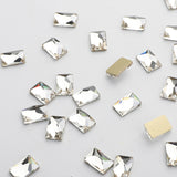 Rectangle Shape Crystal Flat Back Fancy Rhinestones