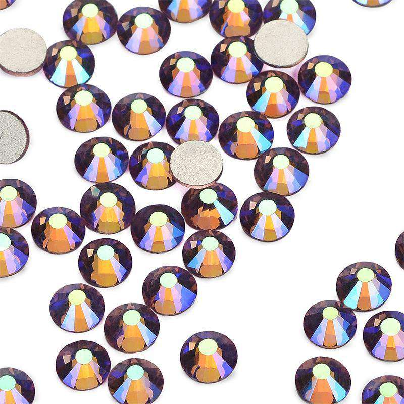 Light Purple AB Glass FlatBack Rhinestones, Nail Crystals - WholesaleRhinestone