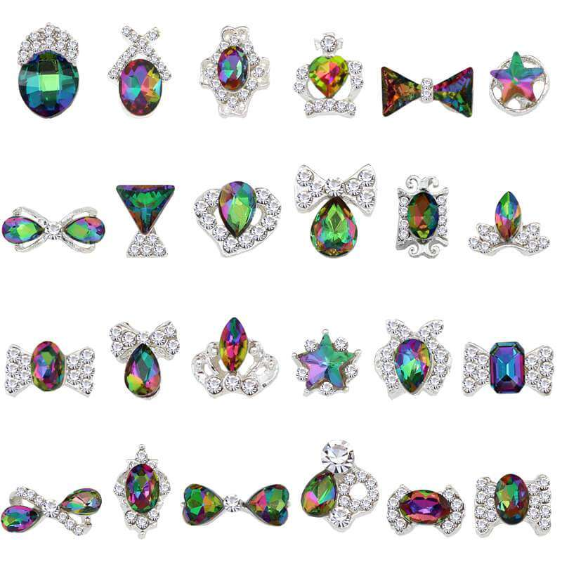 Alloy Nail Art Rhinestones Charms Gems Stones Decoration JC149-JC172 - WholesaleRhinestone