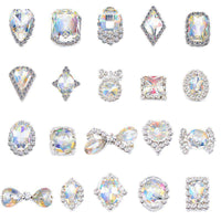 Alloy Nail Art Rhinestones Charms Gems Stones Decoration JC41-JC60 - WholesaleRhinestone