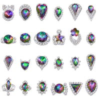 Alloy Nail Art Rhinestones Charms Gems Stones Decoration JC101-JC124 - WholesaleRhinestone