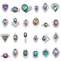 Alloy Nail Art Rhinestones Charms Gems Stones Decoration JC173-JC196 - WholesaleRhinestone