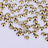 Aurum Flat Back No-HotFix Rhinestones 8 Big 8 Small Cut Facets