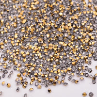 1.2MM Aurum Unfoiled Glass Micro Pixie Pointed Rhinestones For Nail Art